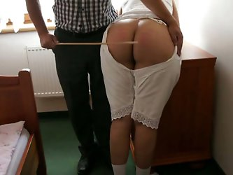 Take a look at massive round ass of my MILF wife. My bootylicious wife loves when I punish her big ass by caning it. Check out how her big butt cheeks
