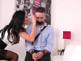 Hardcore doggy style with Jasmine Jae in a MMF threesome